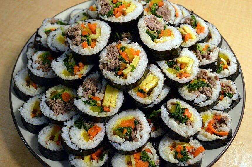 kimbap korean rice rolls