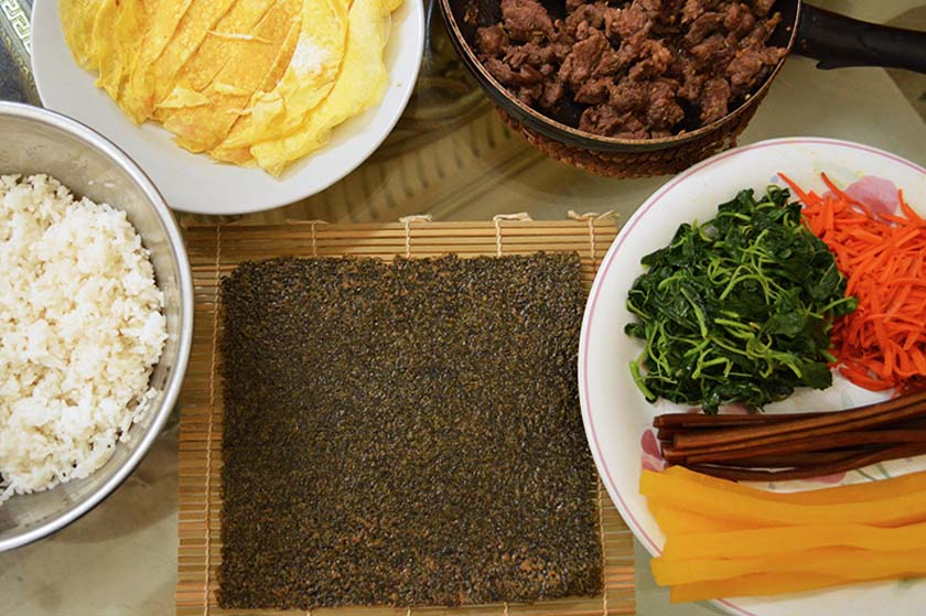 Kimbap Ingredients