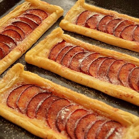 plum puff pastry tart