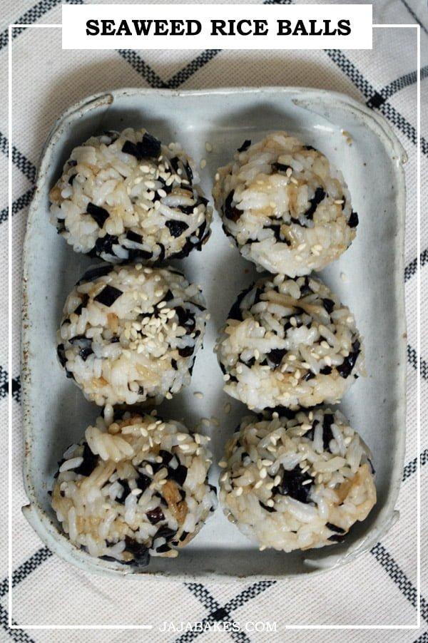 seaweed rice balls pinterest