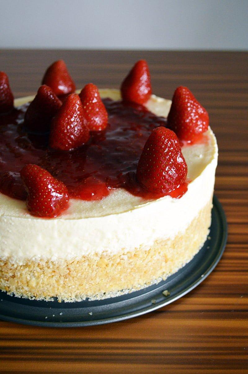 strawberry cheesecake ice cream cake recipe