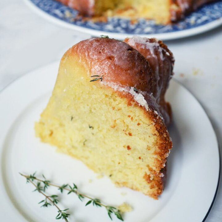 Lemon and Thyme Bundt Cake