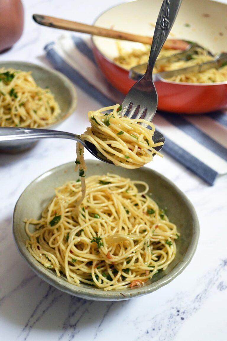 aglio e oilio spaghetti