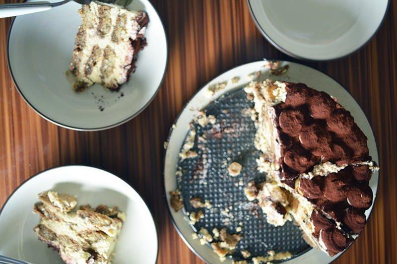 no-bake tiramisu cake