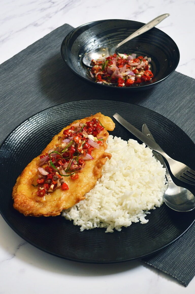 crispy dory fillets with sambal matah
