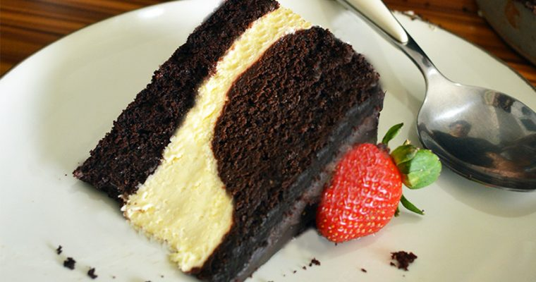 Steamed Chocolate Cream Cheese Layered Cake