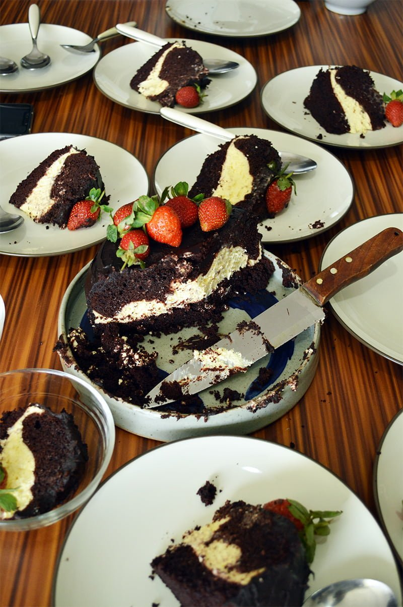 steamed chocolate cake 3