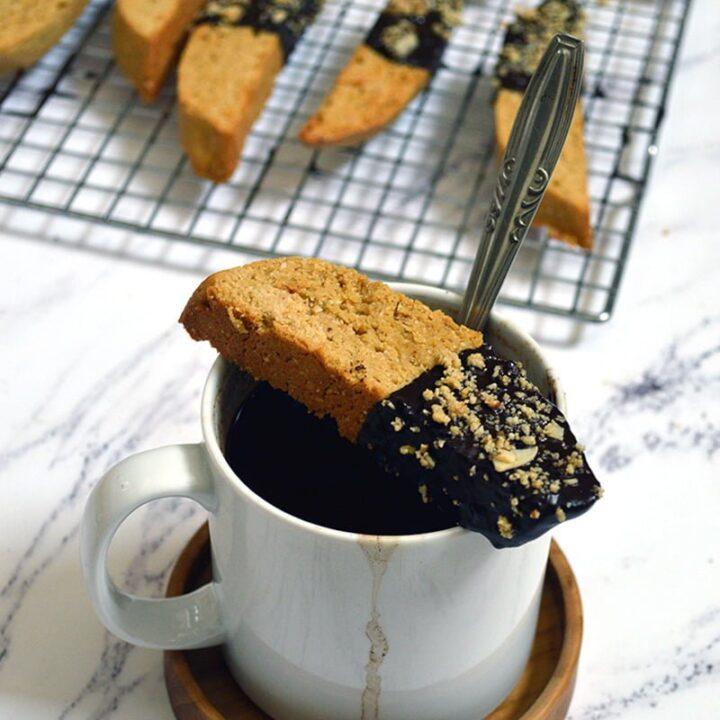 Chocolate-Dipped Almond Biscotti