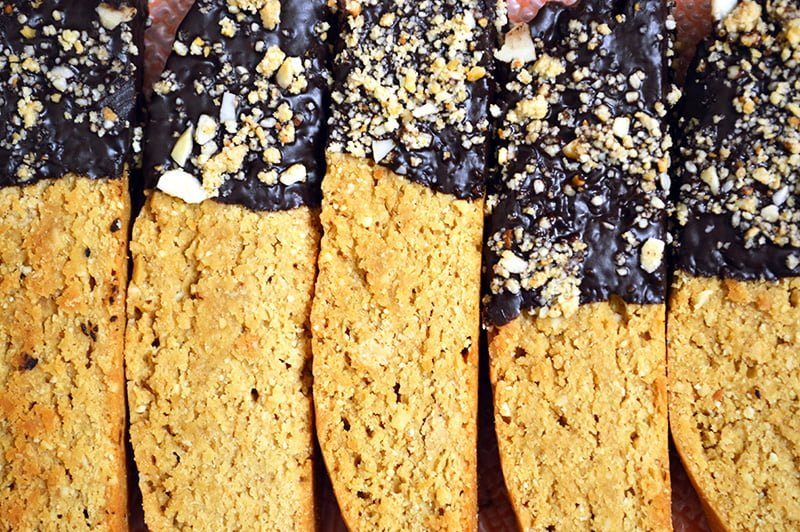 chocolate dipped almond biscotti