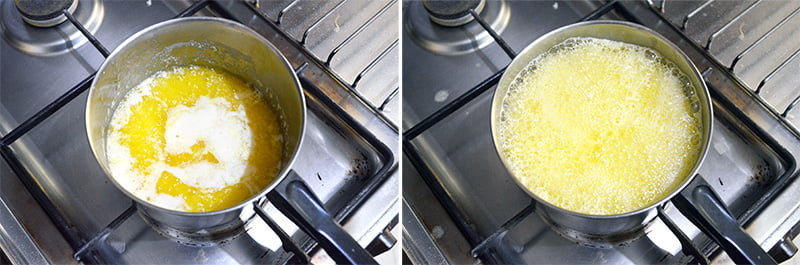cooking brown butter
