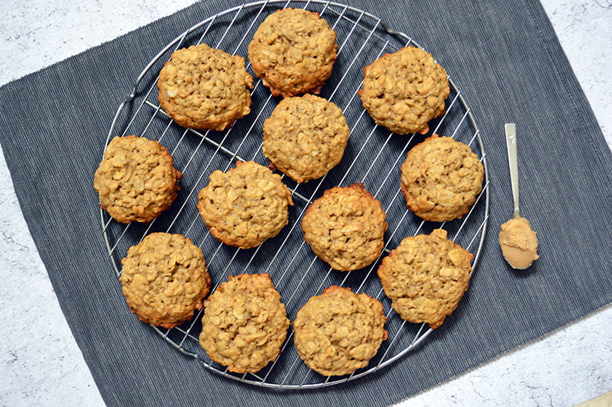 Almond Miso Oatmeal Cookies