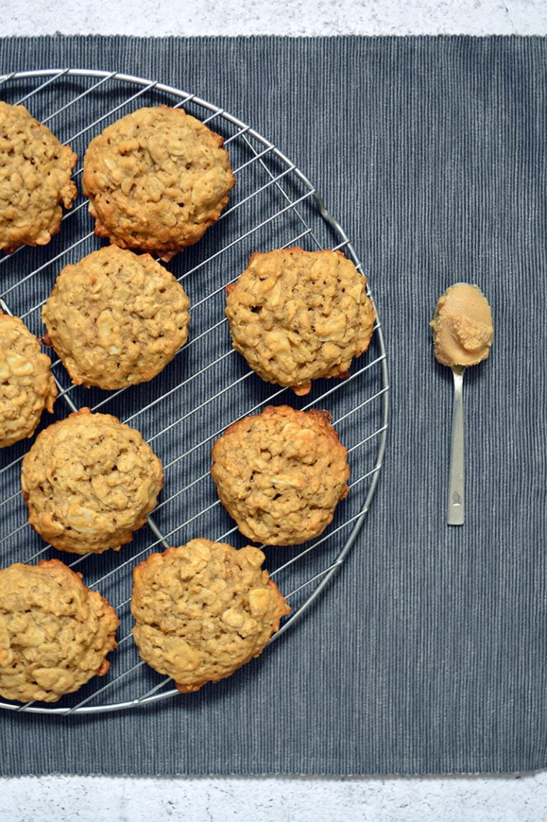 miso almond oatmeal cookies