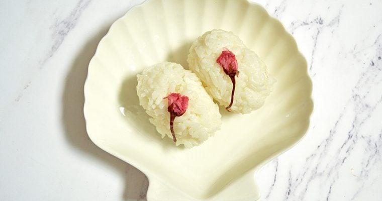 Cherry Blossom Rice Balls