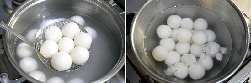 transferring dango to ice water