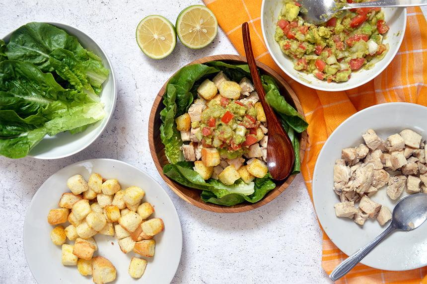 Chicken Guacamole Salad
