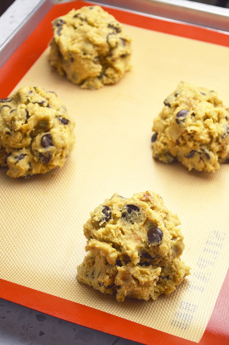 super thick chocolate chip cookies