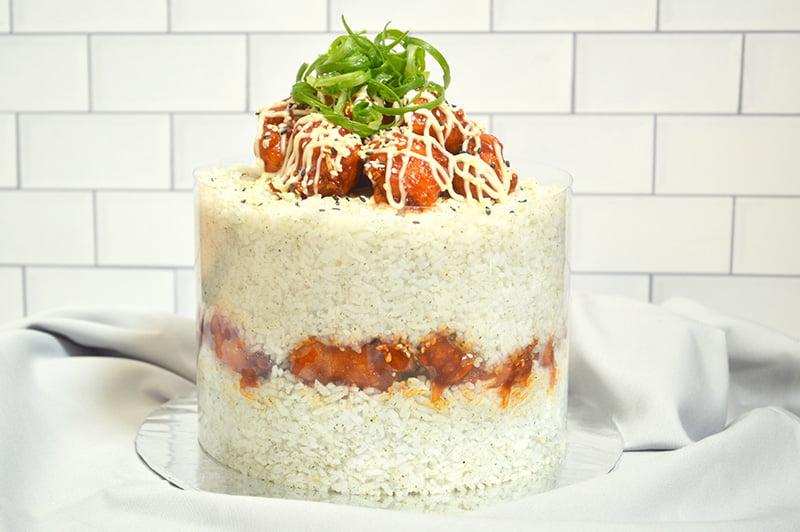 Korean Fried Chicken Cake