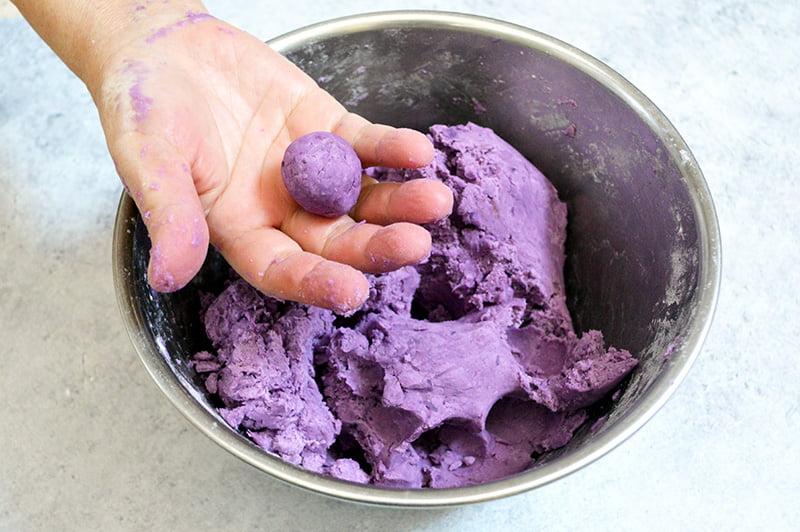 purple sweet potato tapioca balls