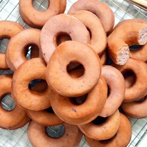 purple sweet potato doughnuts