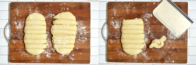 how to make bread knots