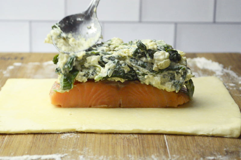 salmon and spinach cream cheese