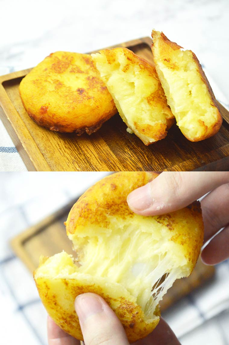 korean potato cheese pancakes
