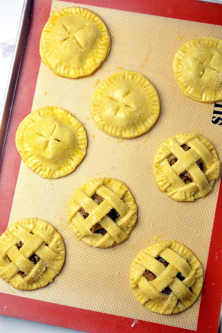 mini lattice apple pie