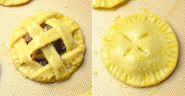 2 ways mini apple pie
