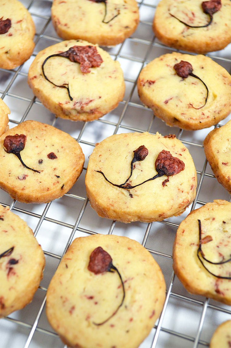cherry blossom shortbread cookies