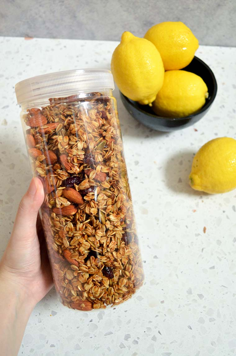 lemon cranberry granola