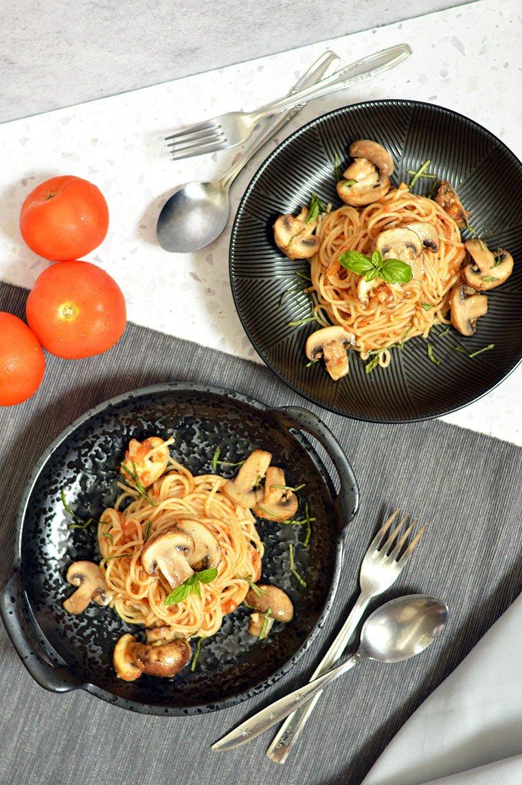 mushroom spaghetti marinara