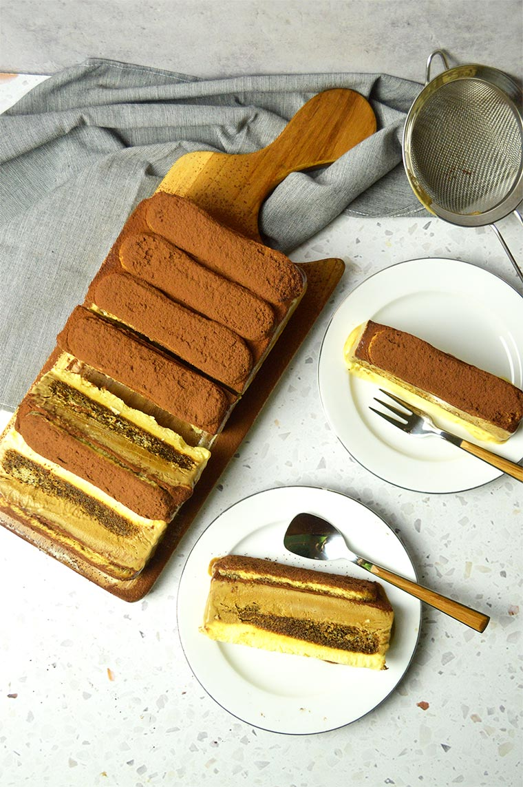 tiramisu ice cream layer cake