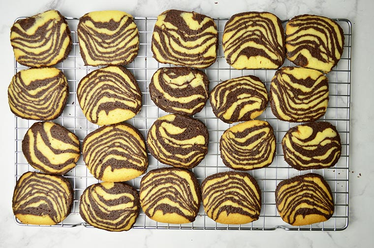 zebra striped shortbread cookies