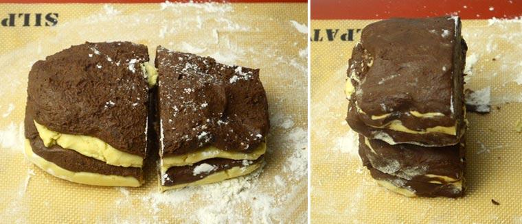 layering shortbread cookies
