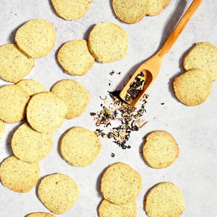 masala chai shortbread cookies