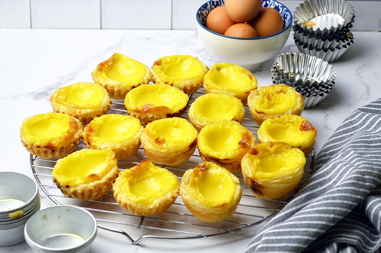 simple puff pastry egg tarts