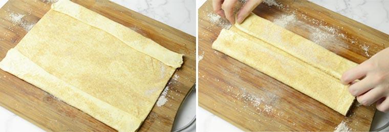 folding palmier cookies