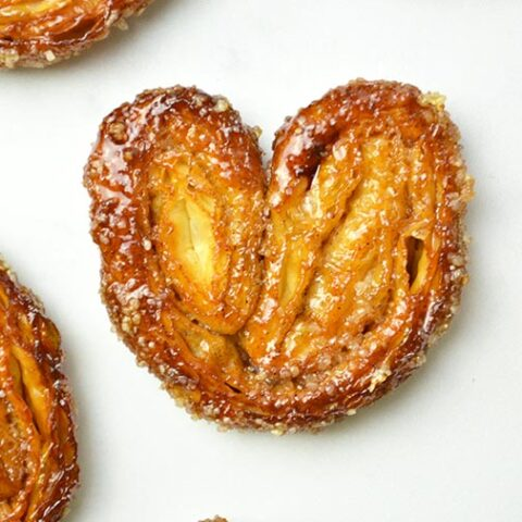 puff pastry palmier cookies