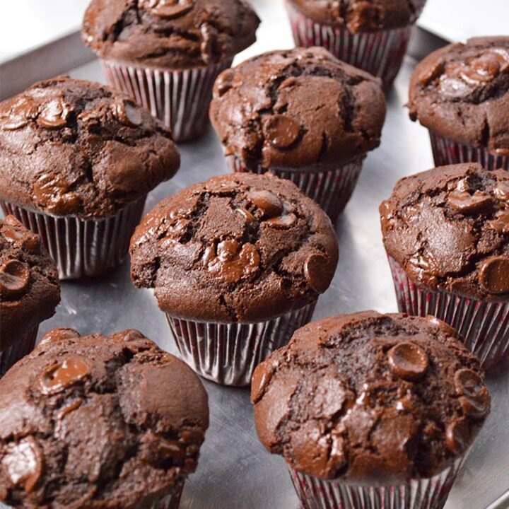 sour cream double chocolate muffins