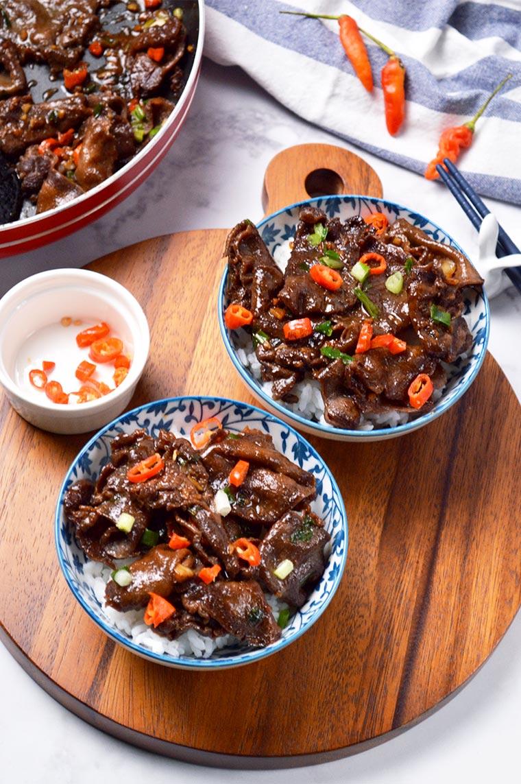 gyutandon beef tongue rice bowl