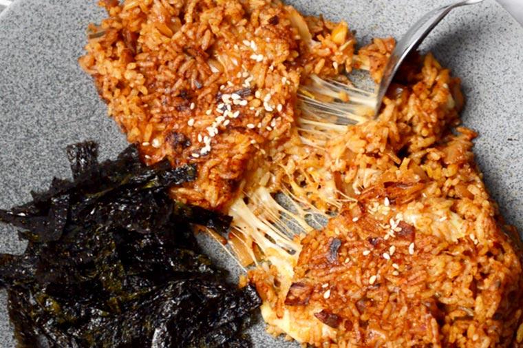 kimchi cheese fried rice