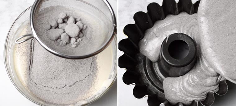 how to make steamed black glutinous rice cake
