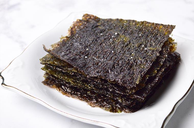 homemade roasted seaweed sheets