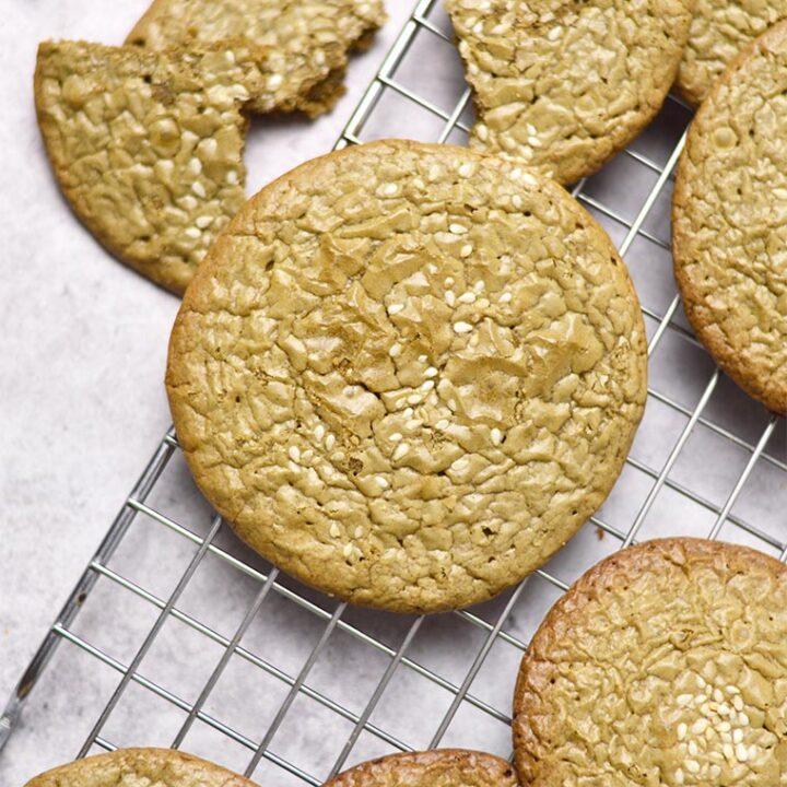 hojicha brownie cookies